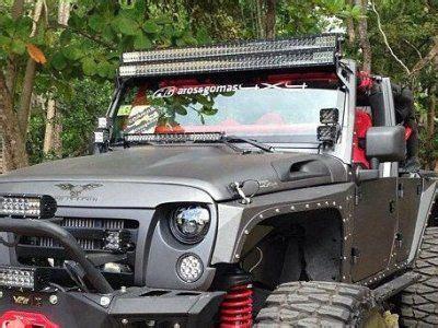 2015 jeep light bar jeep wrangler 2007 2015 dual led light bar and spot beam