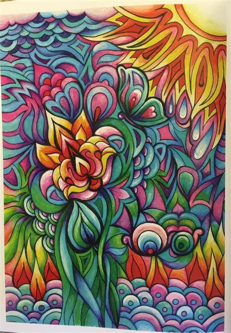 colored pages creative floral frenzy coloring book creative