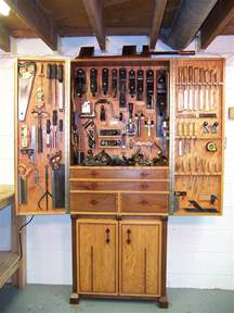 woodworking tool cabinet oak and walnut tool cabinet finewoodworking