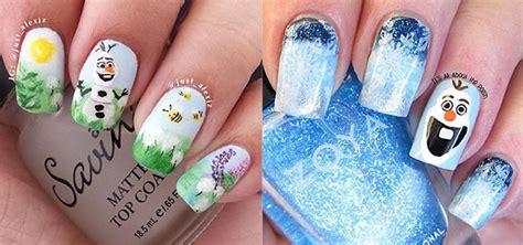 tutorial nail art frozen 15 disney frozen olaf nail art designs ideas trends