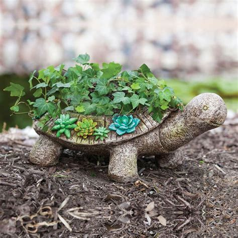 unique outdoor planters turtle planter interior design ideas