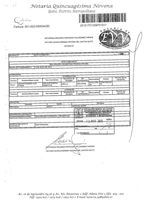 declaracion juramentada derecho ecuador declaracion juramentada de fabian solano a mayo 2015