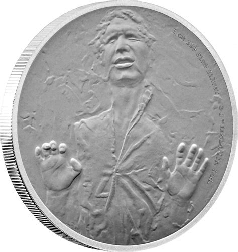 Coin Starwars chewie we re home new han wars tm silver coin from cibc