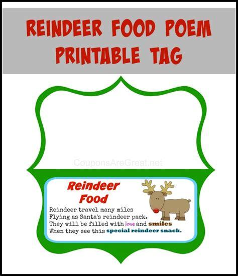 printable reindeer name tags reindeer food printable poem search results calendar 2015