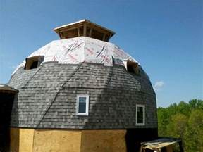 Dome Barn Dimensional Shingles And Water Membrane And Dormers On