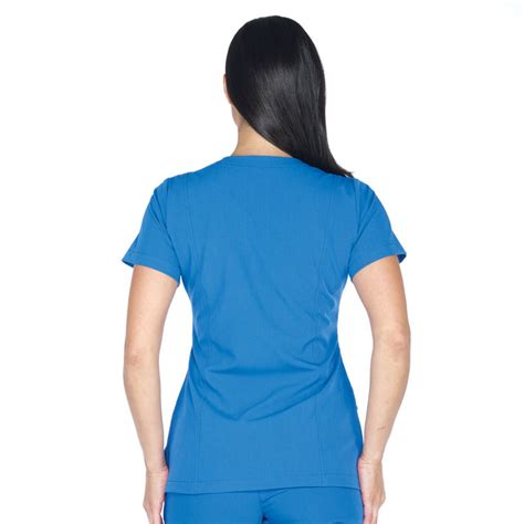 Soft Blue Scrub Size 27 30 jockey s mock wrap scrub top scrubin