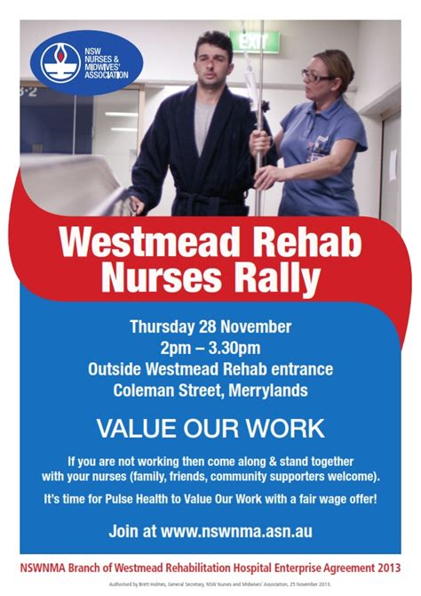 Friends Hospital Detox by Nurses Rally At Westmead Rehab Nsw Nurses And Midwives