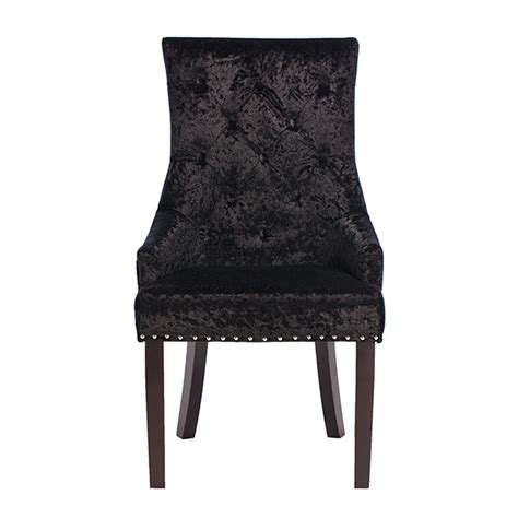 melia crushed velvet dining chair black dining chairs