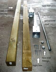 Build A Backyard Pull Up Bar by I Learn The Woodworking Project More How To Build