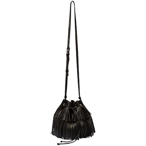 Gerard Darel Fringe Bag As Worn By Longoria And Alba The Bag by Collins And Cbell Bower Reunite At
