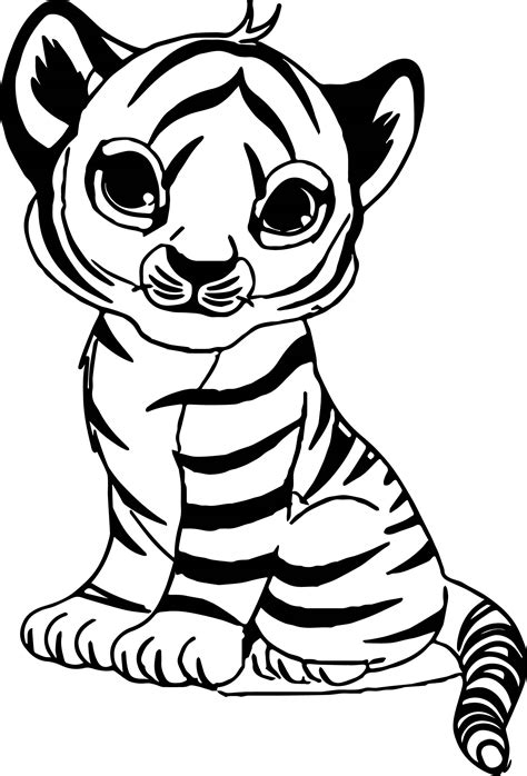cute coloring pages of tigers cute baby tiger coloring page wecoloringpage