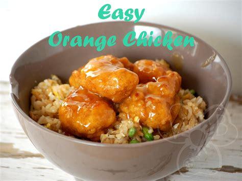 violets buds easy orange chicken dinner recipe