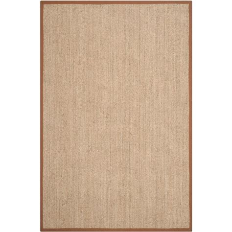 Brown And Beige Area Rugs Safavieh Fiber Beige Brown 6 Ft X 9 Ft Area Rug Nf115b 6 The Home Depot