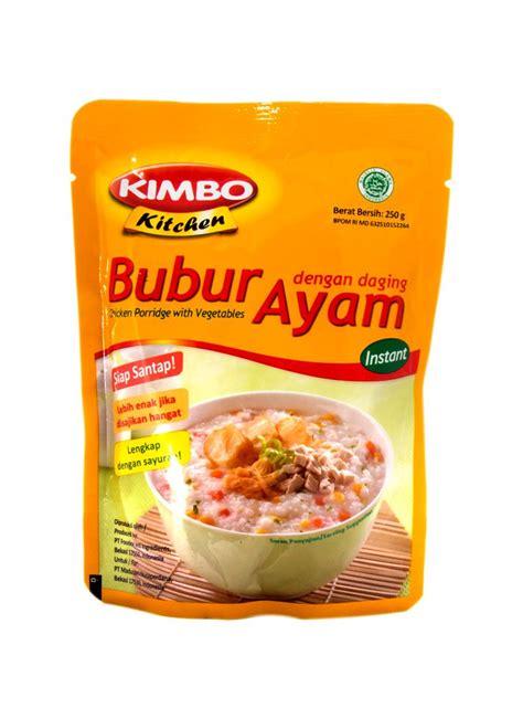 Bubur Organic Rasa Ayam kimbo kitchen bubur instant ayam pck 250g klikindomaret