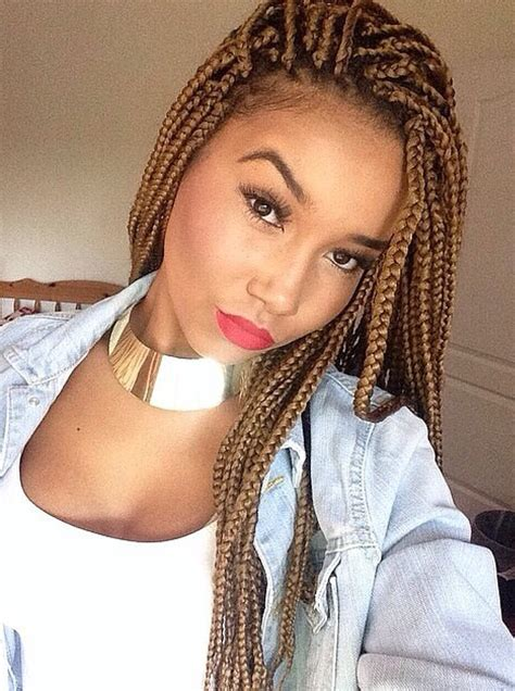 what kind of braids shoyld a darkskin get and color 65 box braids hairstyles for black women human hair