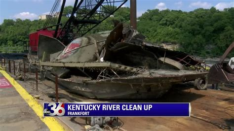 sunken river boats sunken boats pulled from kentucky river during cleanup