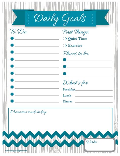 Free Daily Weekly Schedule Printables For The Whole Family Duoparadigms Public Relations Daily Goals Template