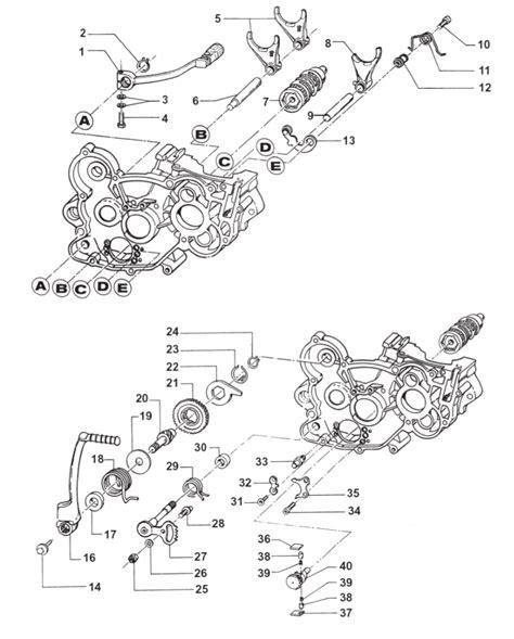 2t motocross gear gear box fork kick starter motor 2t 125 mx 125