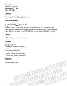 Resumes For Nurses Template by Cv Template Nursing Resume Sles
