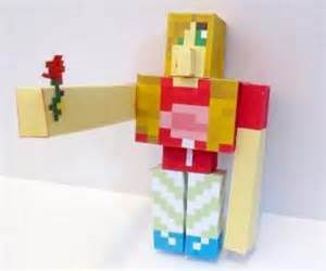 Pixel Papercraft Minecraft - pixel papercraft spawn your golem