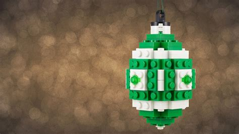 build your own lego ornament for the true meaning of christmas