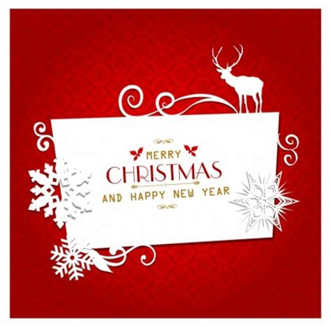 desain kartu ucapan natal cdr marry christmas and a happy new year with corel draw hi
