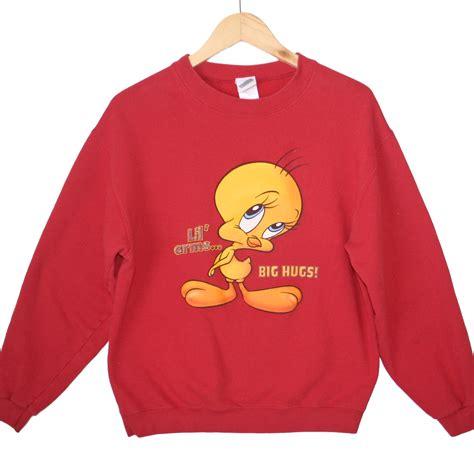 Twety Sweater tweety bird quot lil arms big hugs quot tacky sweatshirt