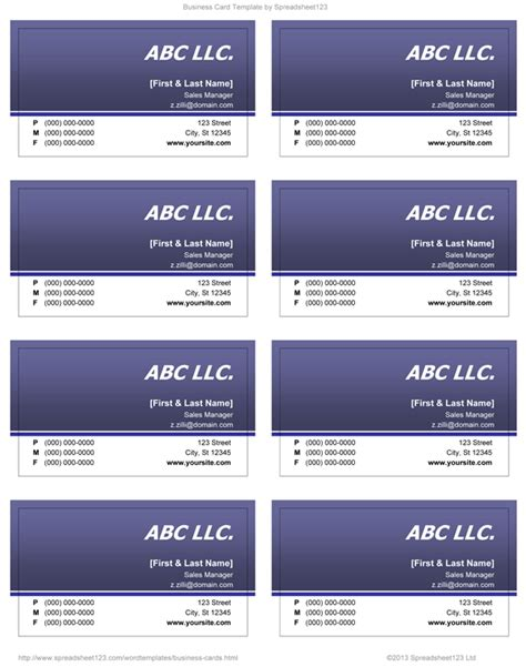 word 2003 business card template various microsoft office business cards modern financial