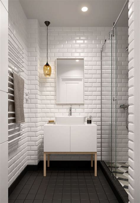 White Tile Bathroom Ideas | a midcentury inspired apartment with scandinavian tendencies