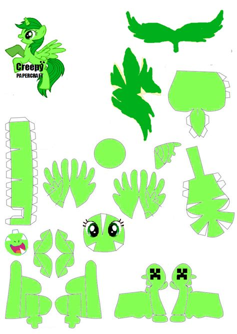 Papercraft Patterns - creepy papercraft pattern by rainyhooves on deviantart