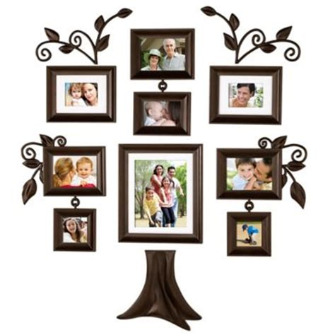 9 piece family tree wall photo frame set hanging frames buy family tree frame from bed bath beyond