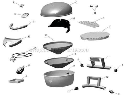 Char Broil Patio Bistro Parts by Char Broil 12601711 Parts List And Diagram