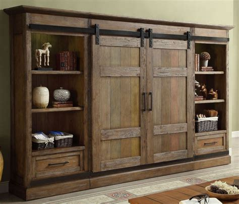light brown entertainment center hunts point vintage weathered pine entertainment wall