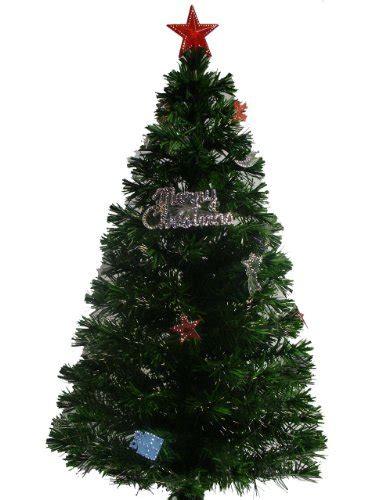 4ft 120cm green fibre optic christmas tree with christmas