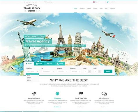 Responsive Bootstrap Themes Premium Bootstrap Templates Travel Template