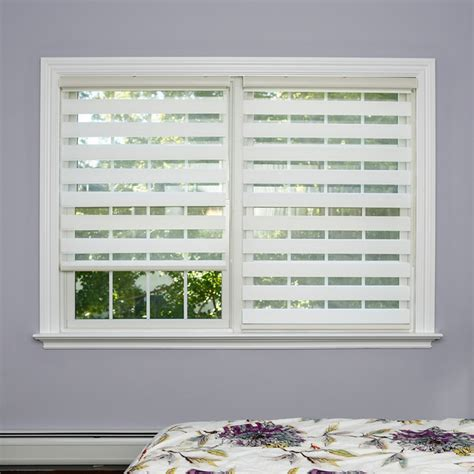 Window Shade Venetian Blinds by Premium Duo Roller White Wood Look Window Shade