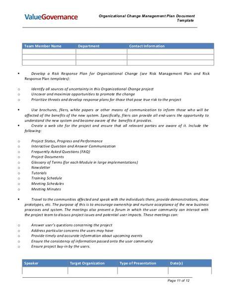 Pm002 02 Organizational Change Management Plan Organizational Change Management Plan Template