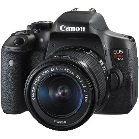 dslr or digital canon eos rebel t6i dslr with 18 55mm lens 0591c003 b h