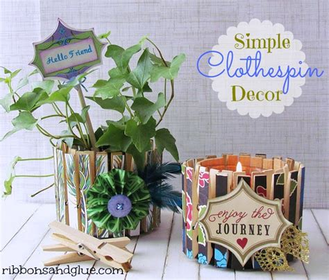 Clothespin Decorations by Diy Decorative Clothespin Crafts Ribbons Glue