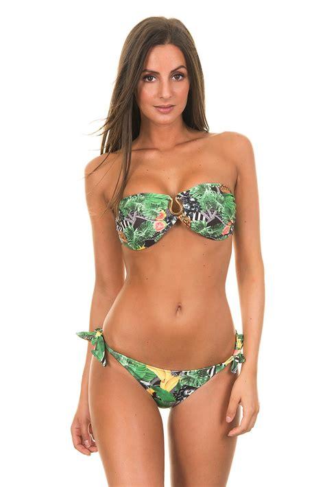 maryssil tropical bikini band with tie side bottoms   carmem miranda