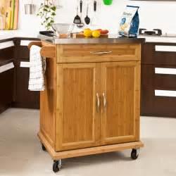 Kitchen Cabinets On Wheels Sobuy 174 Kitchen Storage Cabinet Kitchen Island Trolley