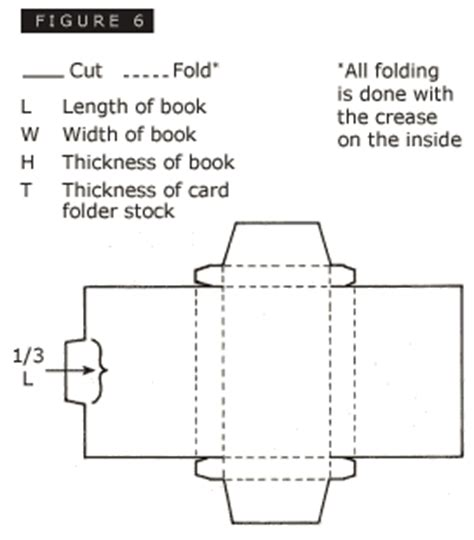 make a book template 4 6 card stock enclosures for small books nedcc