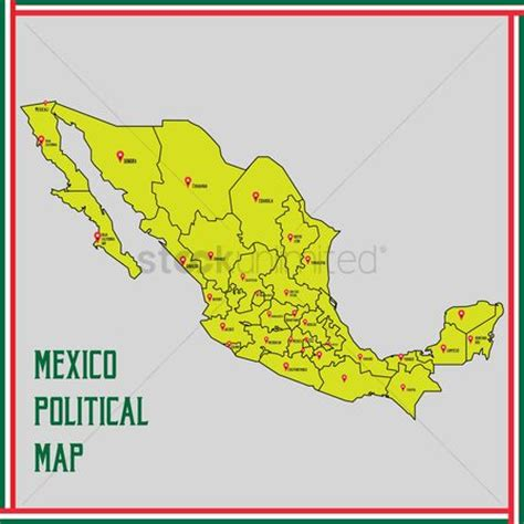 map of mexico political free chihuahua stock vectors stockunlimited