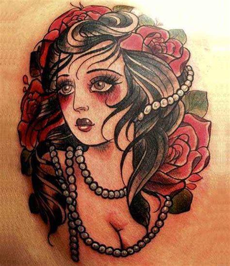 vintage lady tattoo designs school designs