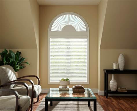 bali faux wood arch blinds contemporary venetian - Faux Wood Arch Window Blinds