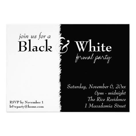 black and white theme invitation black and white