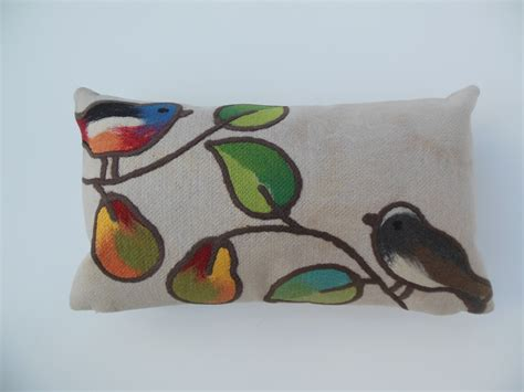 Antimicrobial Pillows by Bird Indoor Outdoor Pillow Lumbar Oatmeal Microfiber