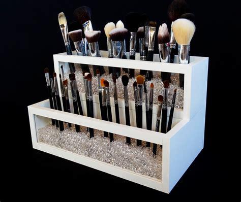 makeup holder 2 tier wood and acrylic makeup brush holder makeup brush
