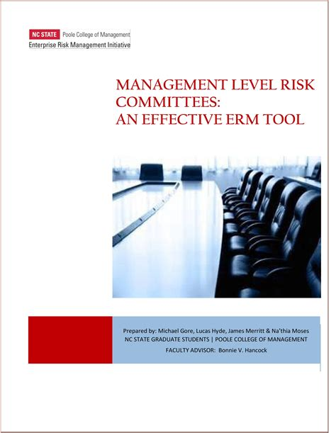 erm tool management level risk committees an effective erm tool