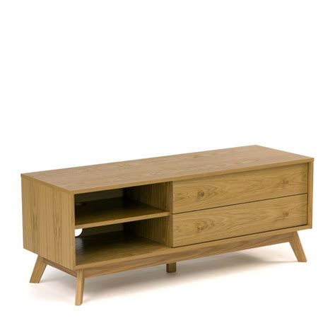 meuble tv design bois massif kensal drawer fr
